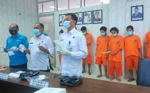 BNNP Kalteng Ungkap Tiga Jaringan Peredaran Narkoba, 1,5 Kilogram Sabu Diamankan