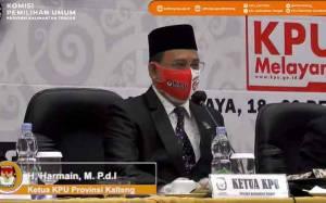 KPU Kalteng Segera Tetapkan Calon Pasangan Cagub - Cawagub Terpilih