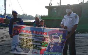 Polairud Polres Seruyan Gencarkan Polmas Perairan Sosialisasikan Prokes