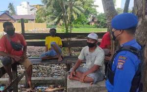Satpolairud Polres Seruyan Sosialisasikan Maklumat Kapolda Kalteng ke Masyarakat Pesisir