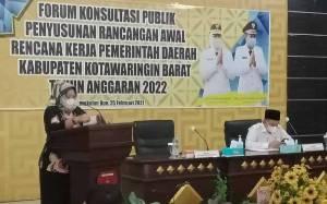 Pemkab Kobar Gelar Konsultasi Publik RKPD Tahun 2022