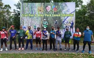 Lanud Iskandar Pangkalan Bun Buka Jalur Sepeda di Hutan Auri, ini Manfaatnya