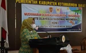 Terpilih Sebagai Ketua KONI, Nurhidayah Siap Majukan Prestasi Olaharaga Kobar