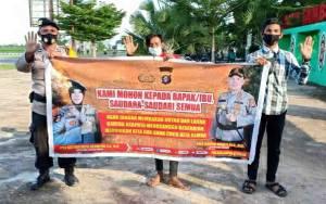Polsek Kapuas Timur Sosialisasikan Maklumat Kapolda Kalteng Terkait Karhutla
