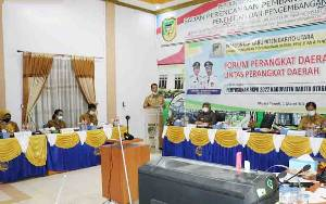 Pemkab Barito Utara Gelar Rapat Forum Perangkat Daerah Secara Virtual