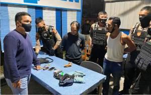 Ditsamapta Polda Kalteng Amankan 2 Pria Bersama Barang Bukti Narkoba