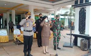 Pemkab, TNI-Polri Gelar Apel Personel dan Sarpras Kesiapan Hadapi Karhutla