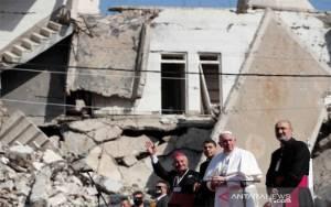 Paus Fransiskus Mendarat di Mosul Irak Utara