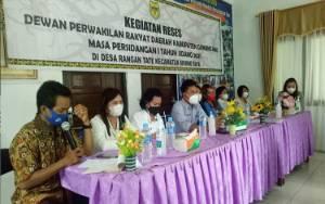 Warga Keluhkan Jalan Rusak, Reses DPRD Gunung Mas di Dapil I
