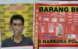 Terduga Pengedar Ini Ditangkap Satresnarkoba Polres Kapuas, Barang Bukti 30 Gram Sabu