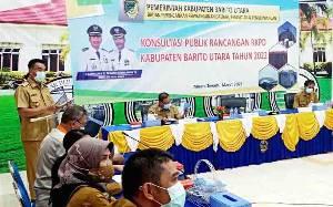 Wakil Bupati Barito Utara Buka Konsultasi Publik Rancangan RKPD 2022