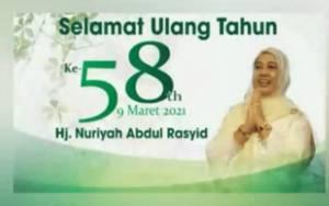 Momen Bahagia HUT ke-58, Anak, Cucu dan Keluarga Hj Nuriyah Abdul Rasyid Ucapkan Selamat Ulang Tahun Melalui Video ini