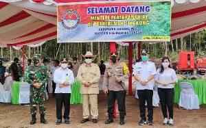 Menteri Pertahanan Apresiasi Kesiapan TNI Polri Dukung Ketahanan Pangan di Kalteng