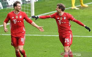 Gasak Werder Bremen 3 - 1, Bayern Jaga Posisi Puncak Klasemen