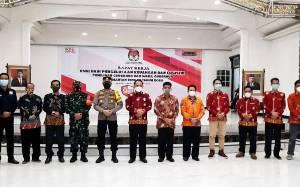KPU Barito Utara Jadi Tuan Rumah Rapat Kerja Evaluasi Pengelolaan Keuangan dan Logistik Pilkada Kalteng 2020