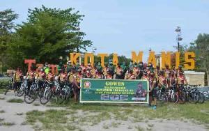 Meriahkan HUT Korem 102 Panju Panjung Kodim Pangkalan Bun Gelar Gowes Bersama