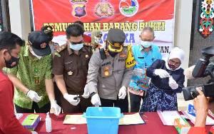 Polres Barito Selatan Musnahkan Barbuk Sabu
