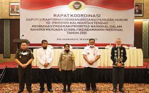 Wakapolda Kalteng Hadiri Rakor Deputi V Kamtibmas 2021