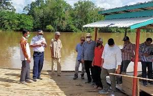 Komisi II DPRD Seruyan Cek Dermaga Penyeberangan Desa Sahabu