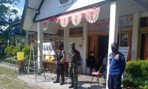 Personel Lakukan Patroli Pastikan Keamanan KPU Kobar