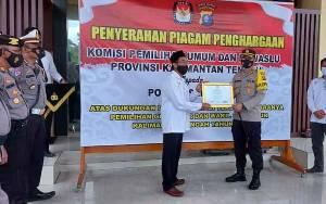 Polres Seruyan Terima Penghargaan karena Sukses Amankan Pilkada Kalteng