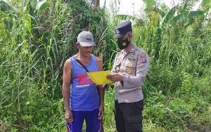 Polisi Sampaikan Maklumat Kapolda Kepada Petani di Seruyan Hilir