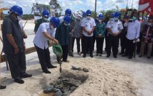 Pada Peletakan Batu Pertama Pembangunan RS Pratama Tumbang Samba, ini Kata Bupati Katingan