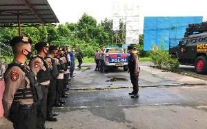 Polresta Palangka Raya Kawal Kedatangan Vaksin di Bandara Tjilik Riwut