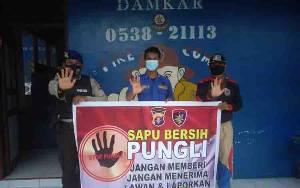Polairud Berikan Sosialisasi Saber Pungli ke Petugas Damkar