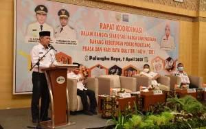 Pemprov Kalteng Gelar Rakor Stabilitas Harga dan Pasokan Barang Kebutuhan Pokok Jelang Puasa dan Idul Fitri
