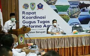 Bupati Seruyan Buka Rakor Gugus Tugas Reforma Agraria
