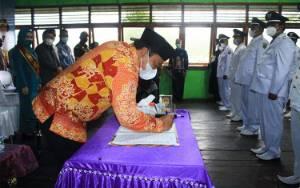 Pesan Bupati Pulang Pisau Pada Pelantikan Kepala Desa