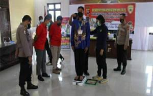 163 Peserta Seleksi Polri Ikuti Rikmin Awal di Polres Kapuas