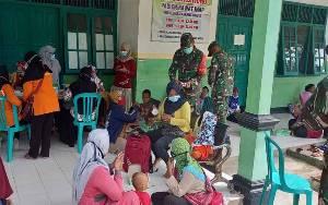 Wujudkan Keluarga Sehat, Kodim Pangkalan Bun Gelar KB Kesehatan di Desa Karang Mulya