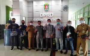 Minta Dukungan,  Badan Pekerja Persiapan Pembentukan Kabupaten Katingan Utara Datangi Kantor DPRD