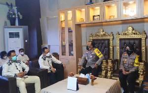 Kapolda Terima Kunjungan Komisioner KPU Kalteng