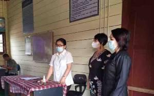 Anggota DPRD Gunung Mas Apresiasi Penerapan Prokes Saat Ujian Sekolah