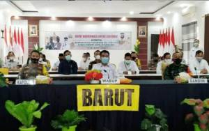 Wakil Bupati Barito Utara Hadiri Rakor Lintas Sektoral Persiapan Pengamanan Idul Fitri