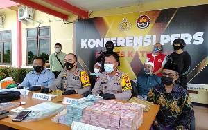 Polres Katingan Resmi Gelar Konferensi Pers Pencurian Uang Rp 1, 2 Miliar Milik Koperasi di Kereng Pangi