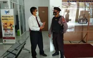 Polsek Timpah Patroli Sasar Perbankan Sampaikan Pesan Kamtibmas