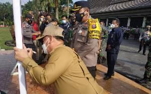 Bupati Kotim dan Kapolres Pimpin Deklarasi Dukungan Peniadaan Mudik Lebaran