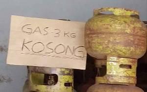 Gas Elpiji 3 Kg Kembali Kosong di Kota Tamiang Layang