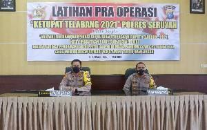 Kapolres Seruyan Pimpin Latihan Pra Operasi Ketupat 2021