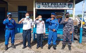 Satpolairud Polres Seruyan Bahas Persiapan Pelaksanaan Operasi Ketupat 2021 di Kawasan Perairan