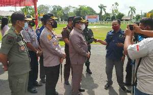Bupati Pulang Pisau Pimpin Apel Gelar Pasukan Operasi Ketupat Telabang 2021