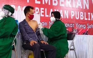 Ini Capaian Vaksinasi Dosis Pertama dan Kedua untuk Pelayan Publik di Kalteng