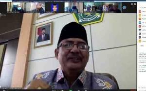 Kakanwil Kemenag Kalteng Adakan Rakor Bersama Stafsus Menteri Terkait Panduan Penyelengaraan Salat Idul Fitri