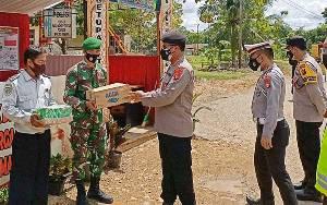 Dirpamobvit Polda Kalteng Tinjau Pos Penyekatan di Perbatasan Barito Timur