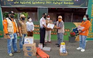 BPBD Provinsi Sampaikan Bantuan Gubernur Kalteng ke Pos Penyekatan