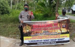 Polsek Kapuas Kuala Sosialisasi Pencegahan Karhutla